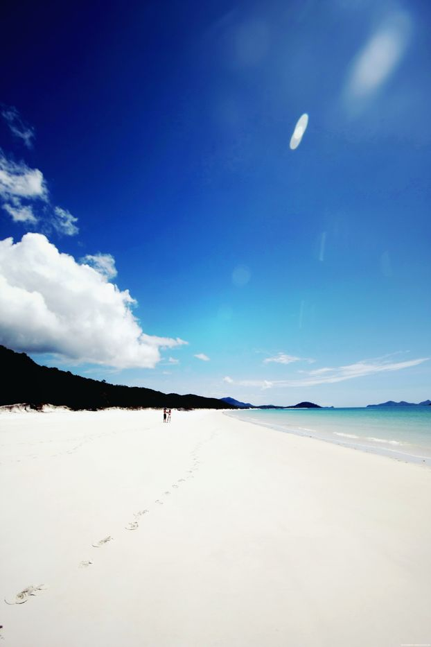 whitsunday islands, australia.. Whitest Beaches in the world, the sand squeaks when you walk on it!