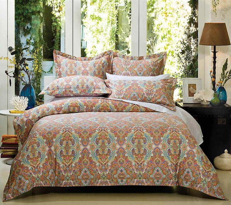 The Gallerie Cotton House 370tc Persia Sunrise Quilt Cover Https Www