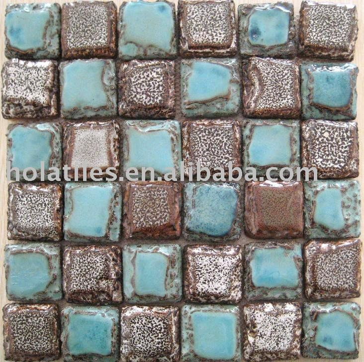 Turquoise Kitchen Wall Tiles: Turquoise And Brown Tiles