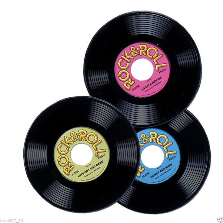 Party Decorations GREASE 1950/'s Mini ROCK-N-ROLL Sock Hop CENTERPIECES 4 COUNT