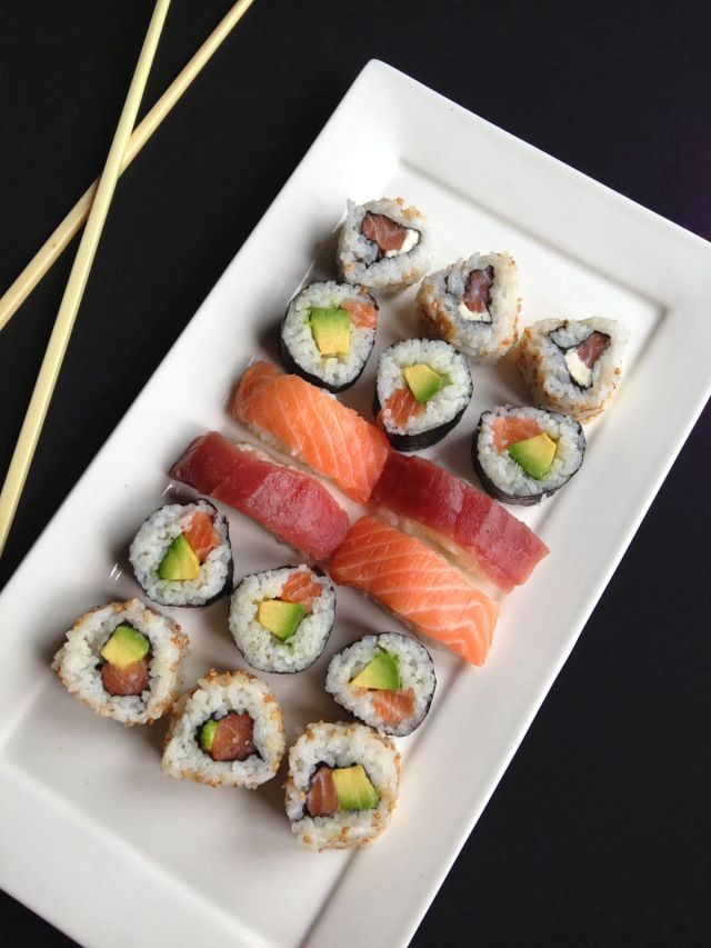 sushis, makis, california