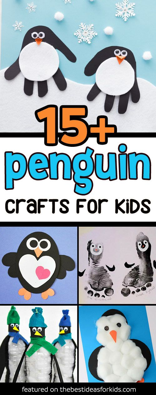 15+ Adorable Penguin Crafts for Kids - lots of fun penguin activities for kids, toddlers and preschoolers. Penguin Paper Crafts and Paper Penguin Ideas. #penguins #penguincrafts #winter #wintercrafts #kidscrafts via @bestideaskids