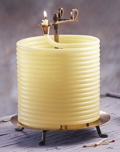 Coiled Wax Candle - 144 Hours of burn time and they even