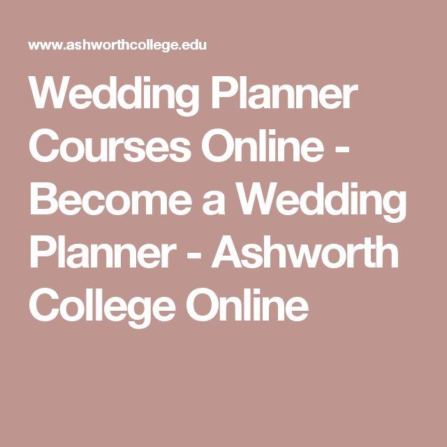 Best 25 Wedding planner courses ideas on Pinterest Wedding list