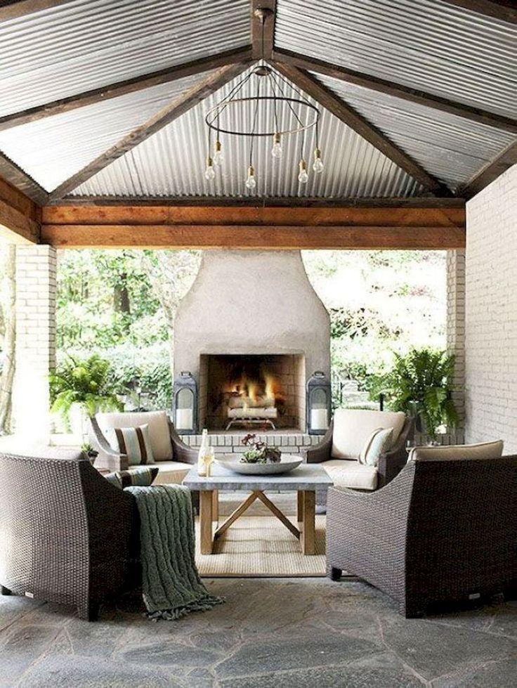 Aesthetic farmhouse exteriors design ideas (59) | Outdoor ... on Farmhouse Outdoor Living Space id=88460
