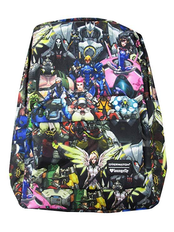 Loungefly Overwatch All-Over-Print Characters Backpack Standard ... 27d5ea53a4e5c