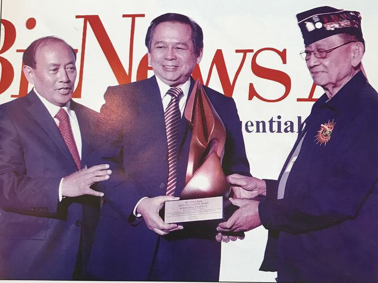 The Award of Excellence was recently oferred by former Pres. Fidel V. Ramos to Hon. Rodolfo G. Valencia ...