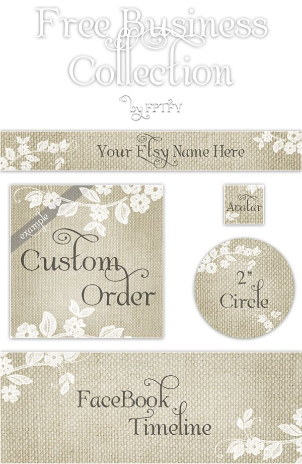 Free Etsy Banner Set and Beautiful Blog embellishments