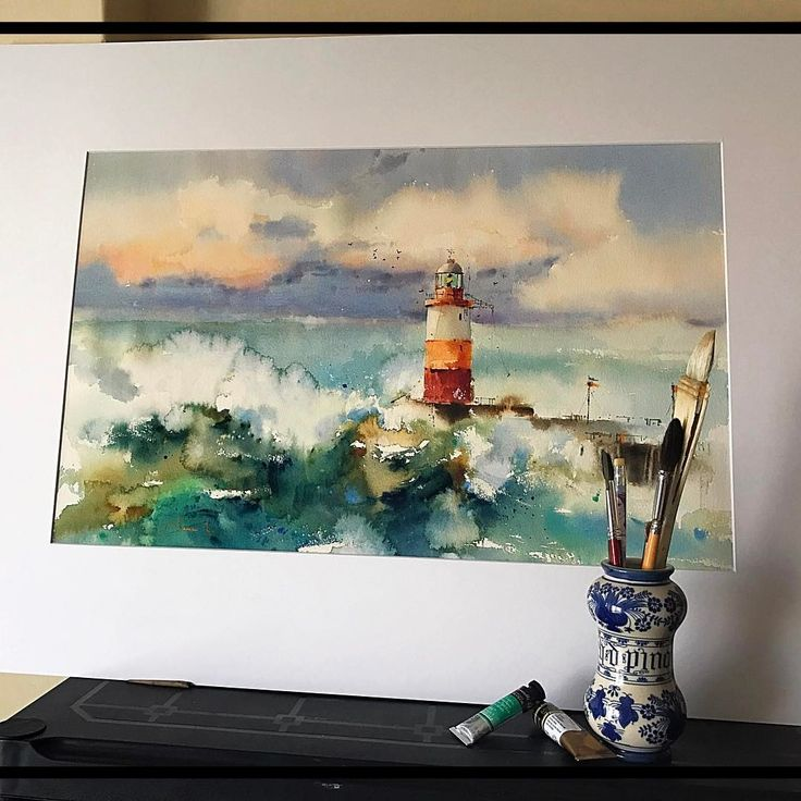 84 best acuarelas marinas images on Pinterest | Watercolour painting ...