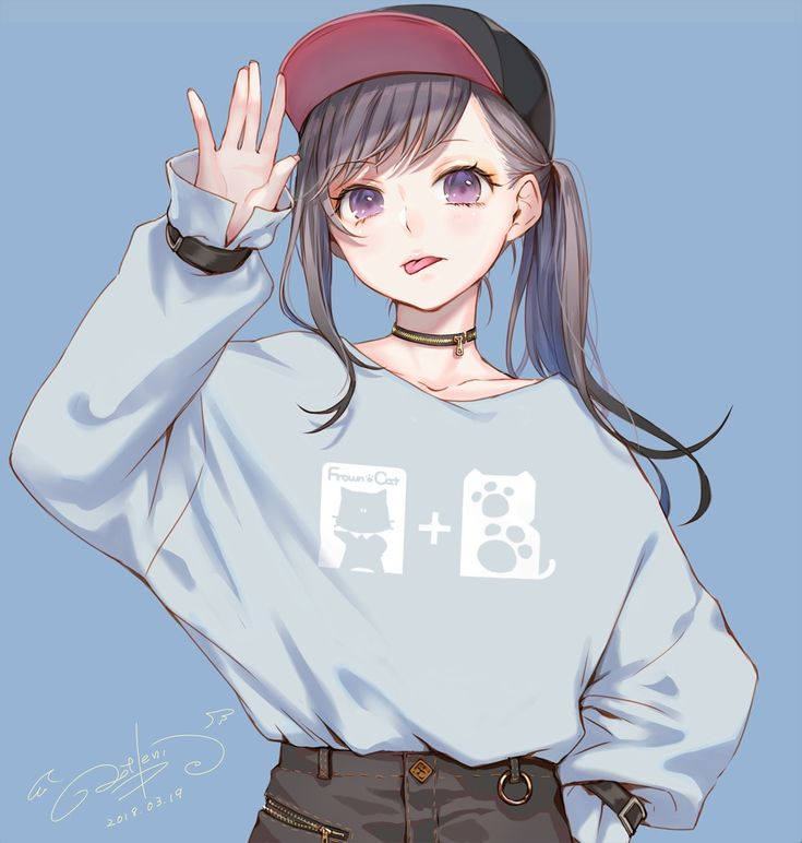 Anime July 2019: CUTE Anime Girl With Ponytail #cute #beautiful #anime