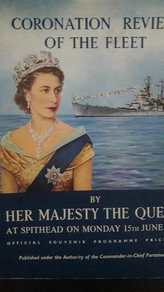 Vintage 1953 Come to Britain Coronation Queen Elizabeth II Poster A3 Print