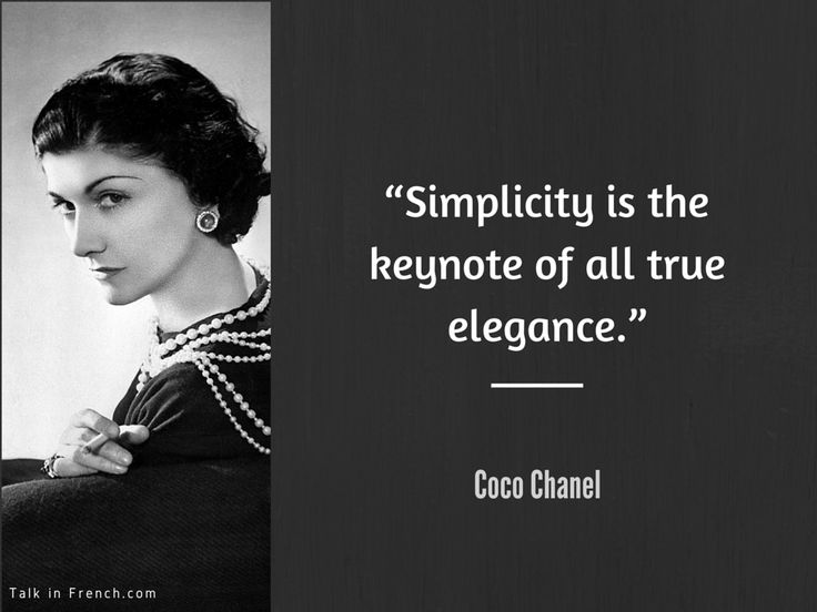 www.TalkInFrench.com Coco Chanel Style Advice