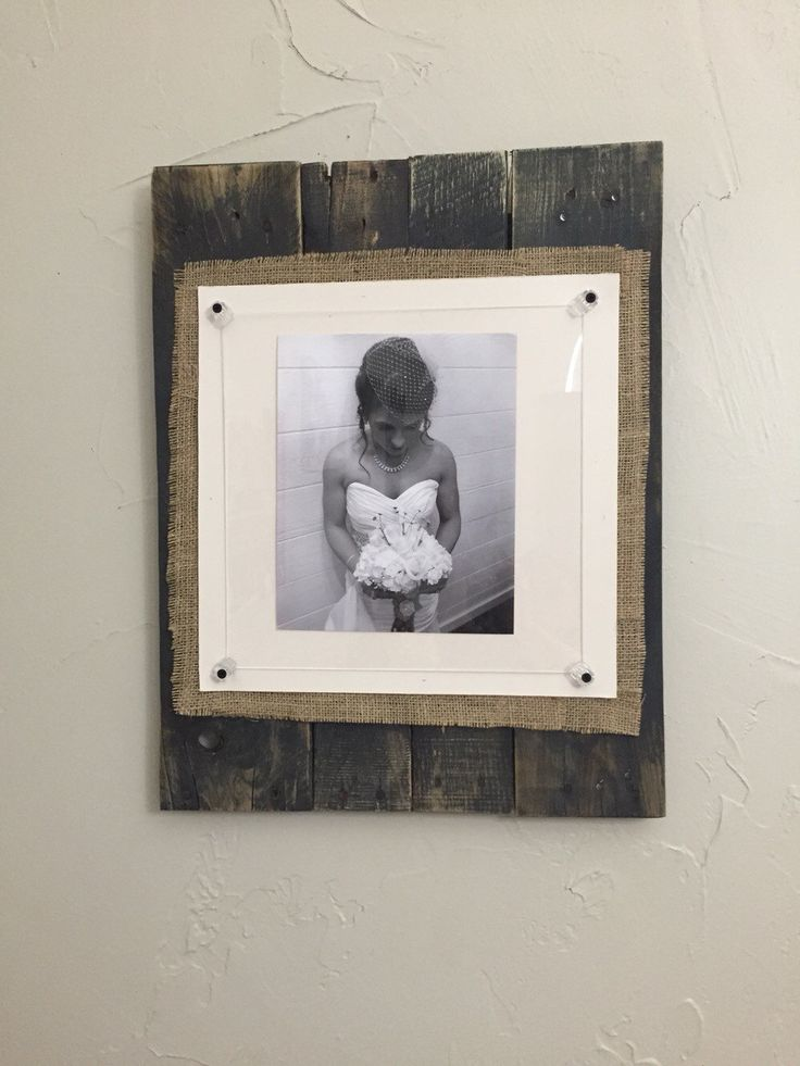 Custom Burlap Pallet Frame w/ acrylic glass - pinned by pin4etsy.com