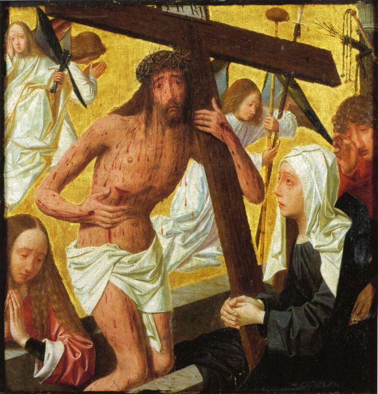 Geertgen tot Sint Jans (1460/1465 – до 1495) Несение креста (Муж скорбей.Христос страждующий.) из Утрехтского музея
