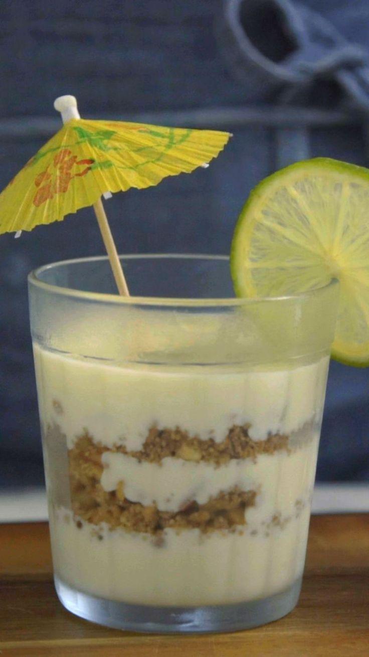 Pavê de caipirinha, uma sobremesa fácil, deliciosa e super charmosa!