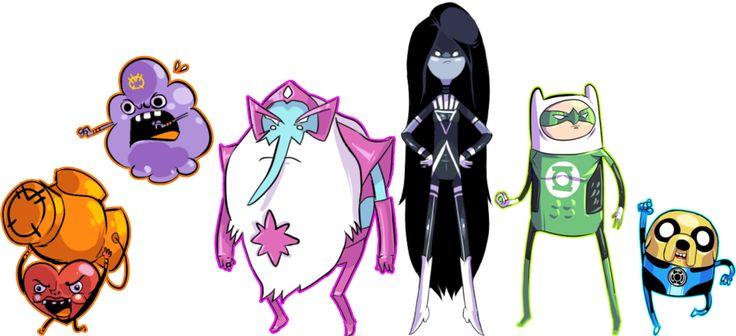 Adventure Time + Green Lantern mash-up. Mathematical!