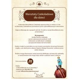 15.06.2013 Warsztaty czekoladowe dla Dzieci - Krakowska Manufaktura Czekolady