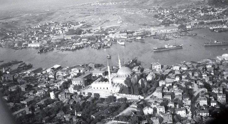 Havadan Haliç ve Yavuz Sultan Selim Camii.. 1950.. #istanbul