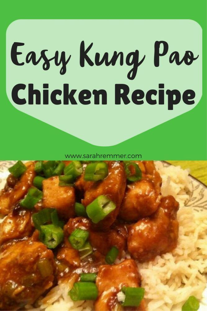 Easy, delicious Kung Pao Chicken Recipe! Kid-approved weeknight meal idea.