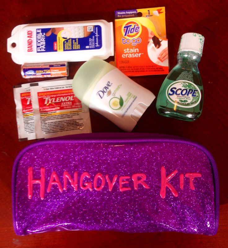 Hangover Kit 21st Birthday Idea . Make sure I have this for the next day :P