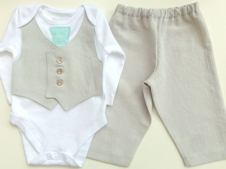 Baby boy clothing, newborn boy suit, summer wedding suit for baby, pale gray and mint, 1st birthday outfit, uk seller by ThisisLullaby on Etsy https://www.etsy.com/listing/195949938/baby-boy-clothing-newborn-boy-suit