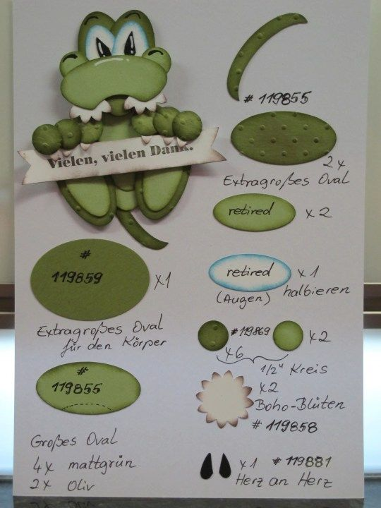 #PunchArt Little Crocodile SU punches  visit me at http://stampingwithbibiana.blogspot.com/