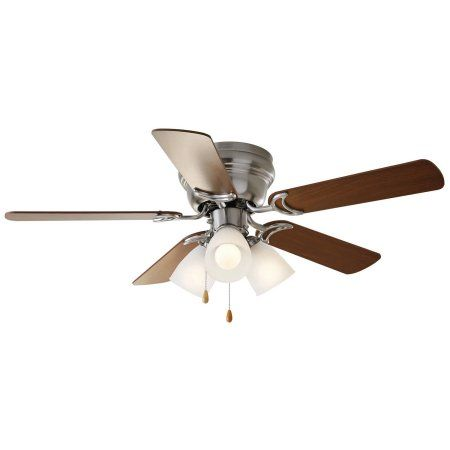 Groovy 52 Chapter Ceiling Fan 3 Light Hugger Satin Nickel Download Free Architecture Designs Grimeyleaguecom