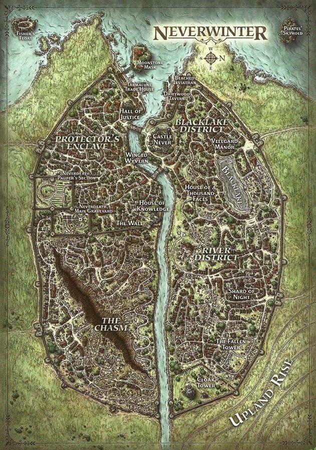 Neverwinter fantasy map