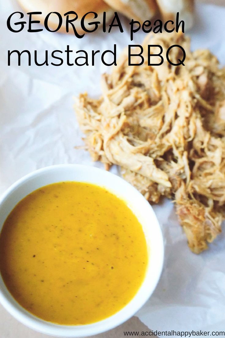 Sweet and tangy, tart and zippy, this peach mustard bbq sauce is a welcome change from your average ketchup based bbq.