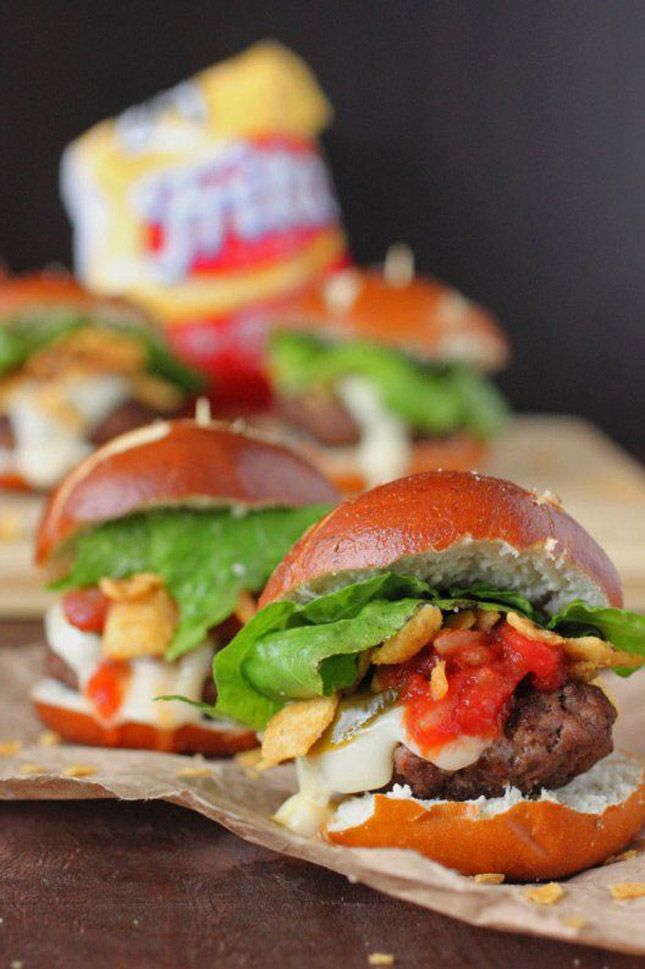 Combine tacos + burgers to get the best slider for your Super Bowl party.