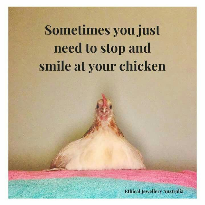 Even if said chicken is still imaginary for the time being...