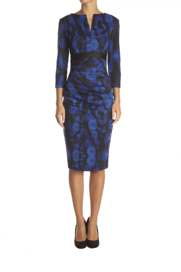 Blauwe jurk met print van Diva Catwalk
