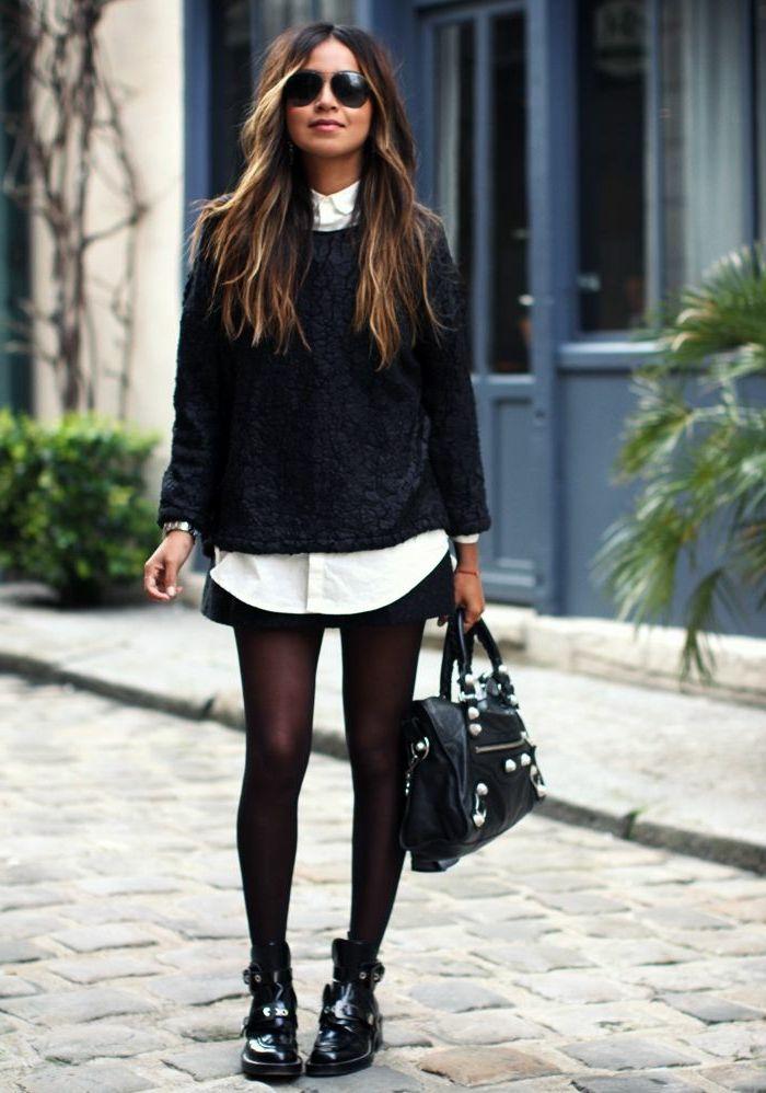 minelli chaussures noires bottines pour la femme moderne avec sac en cuir 700 998. Black Bedroom Furniture Sets. Home Design Ideas