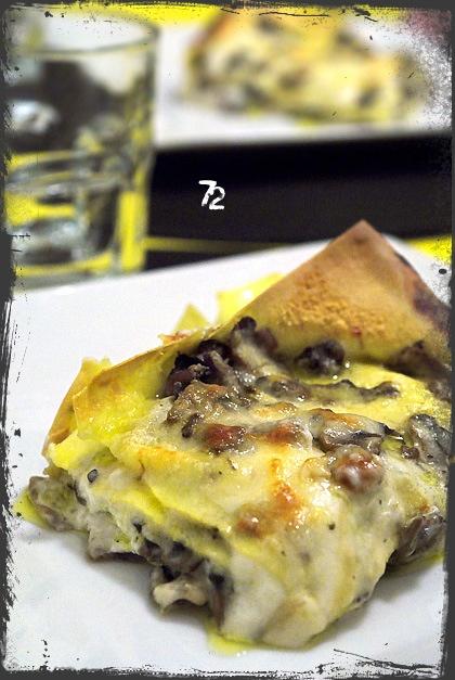 Lasagne con robiola (incavolata) e funghi