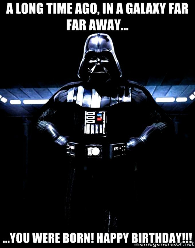 Star Wars Happy Birthday A Clip Art Funny Memes Darth Vader Funny Happy Birthday Birthday Quotes For Him Star Wars Party