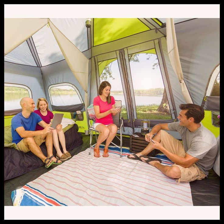 Camping Tent Ideas - The Coleman 8 Person Instant Tent - A Great Tent For Large Families And Groups *** Be sure to check out this helpful article. #CampingSupplies
