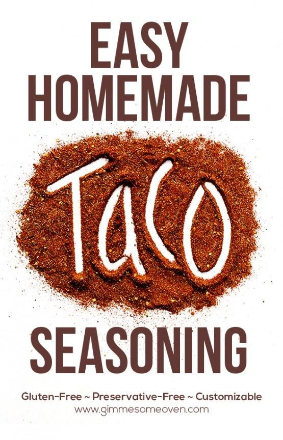 Homemade Taco Seasoning Recipe ~ it's preservative-free, gluten-free, and customizable to your taste preferences.