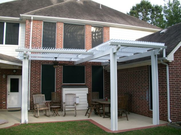 L shaped louvered roof patio cover louvered roof patio for L shaped house front porch