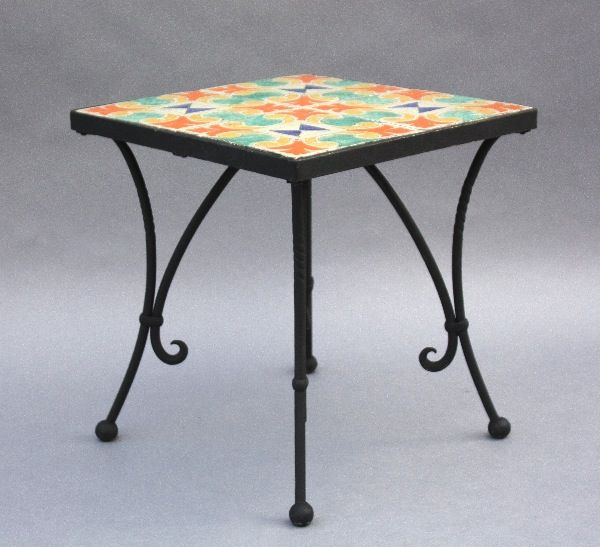 1920's Iron California Tile Table, Tables and Desks, Spanish Revival, Mediterranean and European Antiques at Revival Antiques