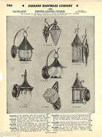 1935 ADVERT Cast Bronze Craftsman Arts & Crafts Halloween Cat Moon Lantern Light