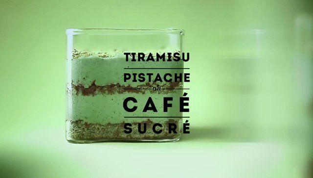 VERT by Carte Noire : Tiramisu pistache au café sucré. Carte Noire donne de la couleur aux saveurs avec une série de 4 recettes chromatiques...