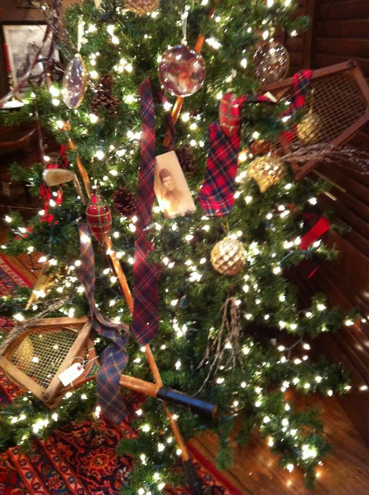 Sports vintage christmas tree decor oh