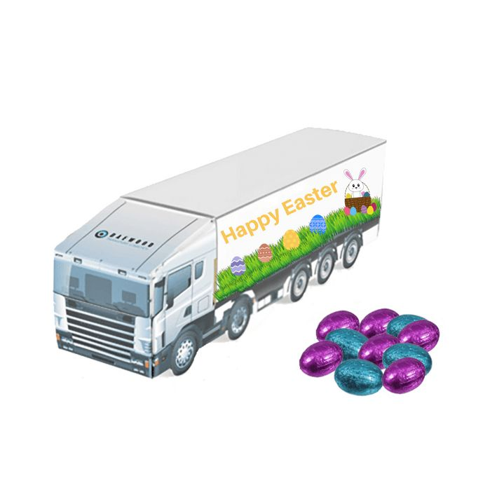 62 best easter promotional gifts images on pinterest bags promotional easter truck with foil wrapped chocolate eggs branded with your logo from redbows negle Images