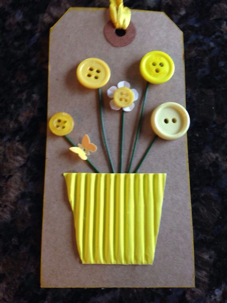 Spring gift tags design