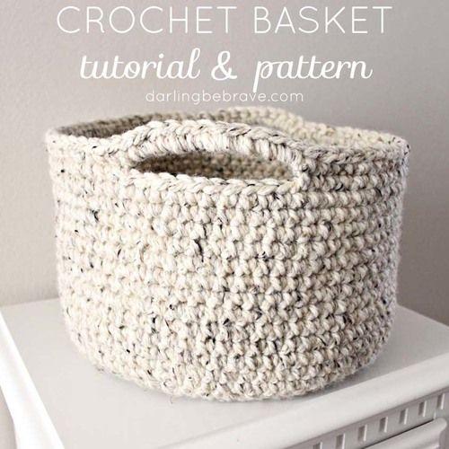 Darling Be Brave crochet basket tutorial