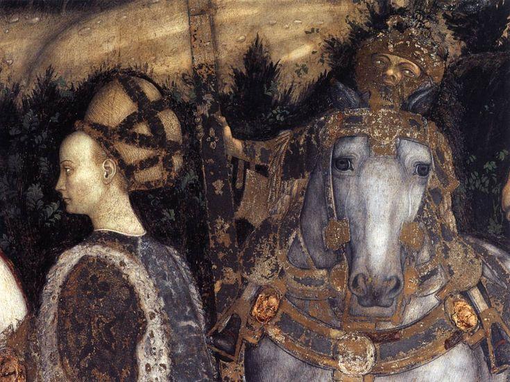 Pisanello | St George and the Princess of Trebizond (detail) 1436-38 Fresco Pellegrini Chapel, Sant'Anastasia, Verona