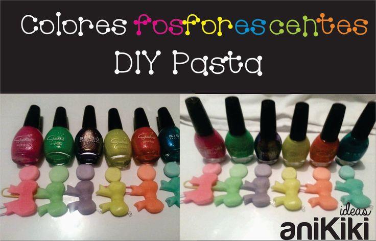 Colores fosforescentes DIY pasta flexible