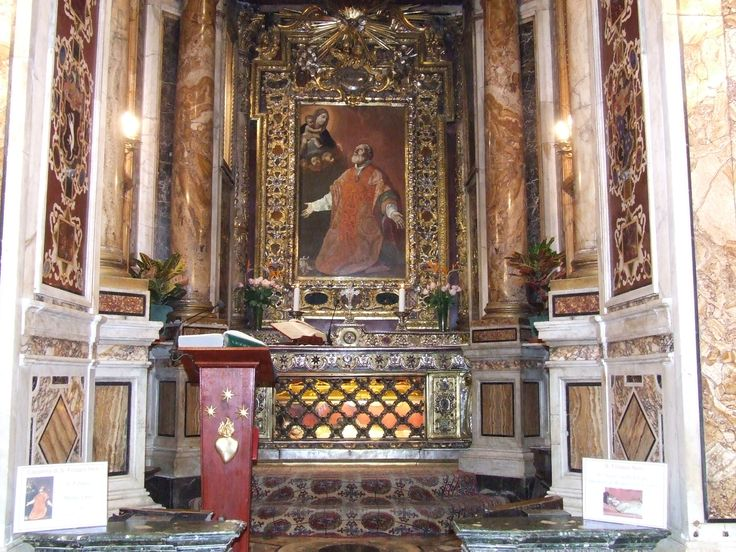 The tomb of St. Philip Neri in the church of Santa Maria in Vallicella, commonly called Chiesa Nuova.