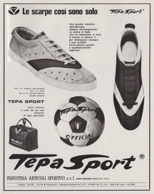 I MITICI ANNI '70... http://www.tepasport.it/ Made in Italy dal 1952 #calcio #anni70 #real #sneakers #MadeInItaly #tepa #sport #trip #Italia