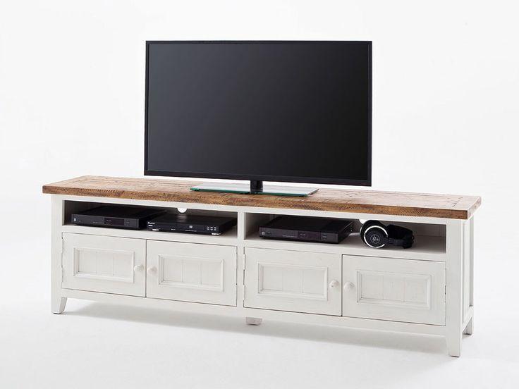 Biała szafka RTV drewniana Alice 2